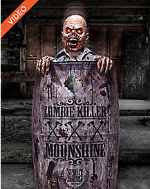 5 Ft Moonshine Barrel Zombie Animatronics