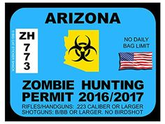Arizona Zombie Hunting Permits