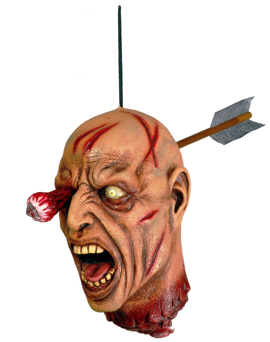 Arrow Thru Head Hanging Prop
