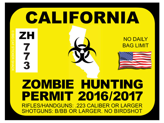 California Zombie Hunting Permits