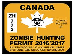 Canada Zombie Hunting Permits