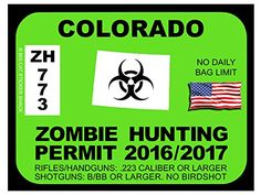 Colorado Zombie Hunting Permits