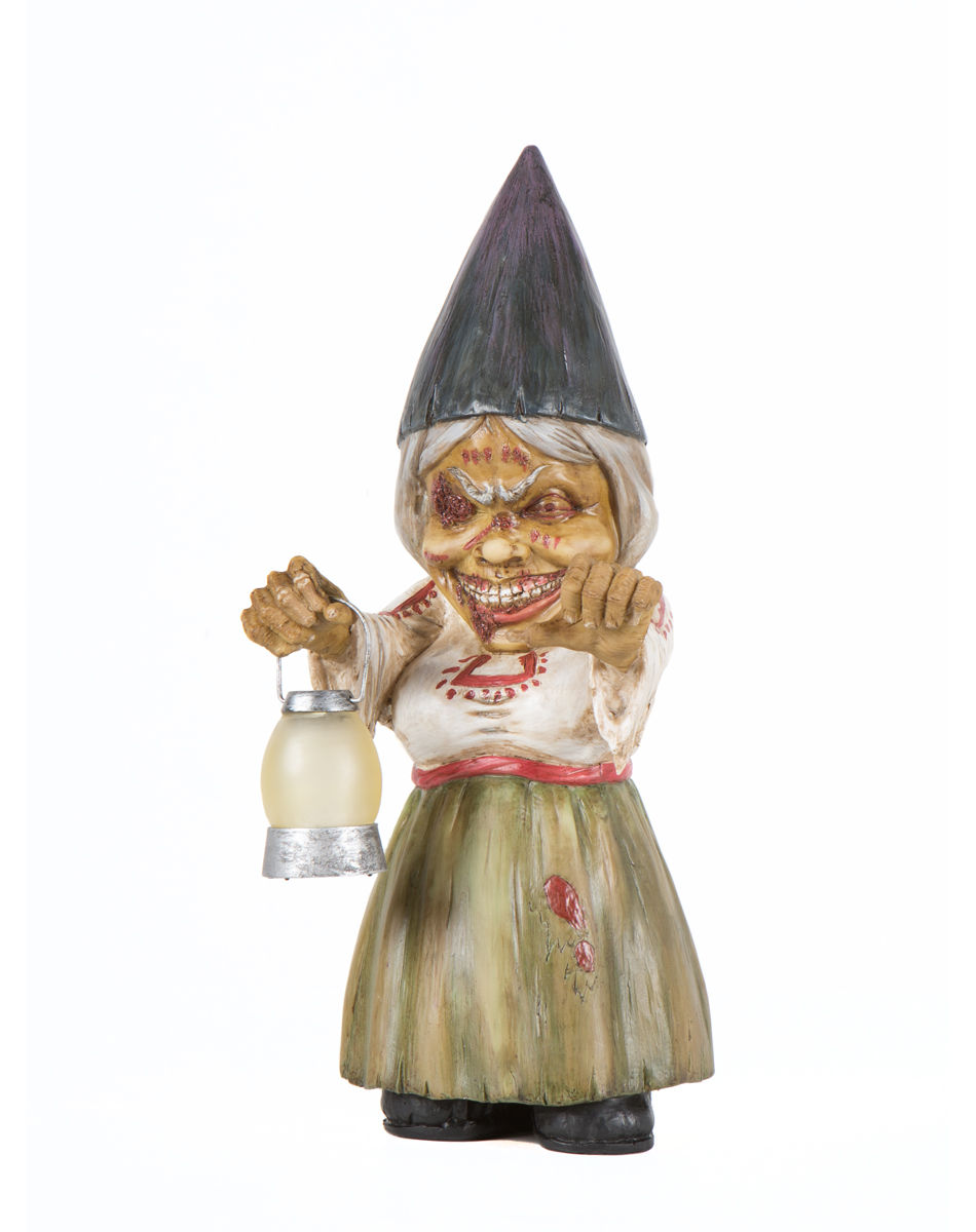 Female Garden Gnomes: Zombie Halloween Party Props & Decorations