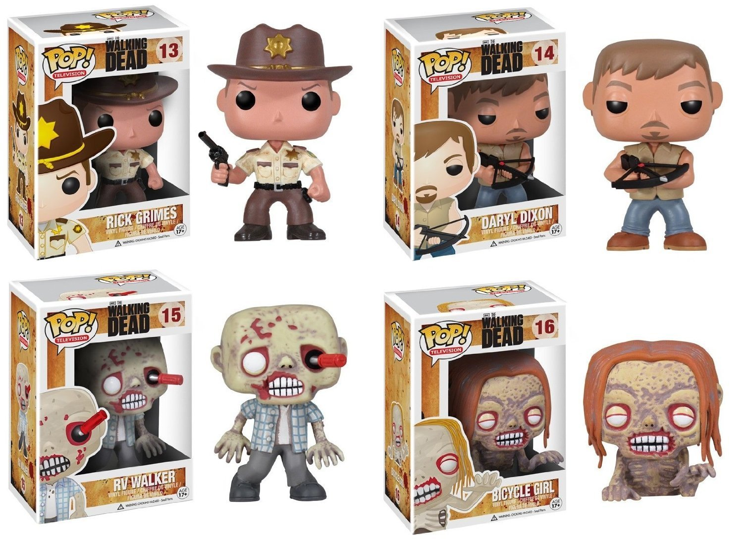 Funko POP Walking Dead Vinyl Figure Sets