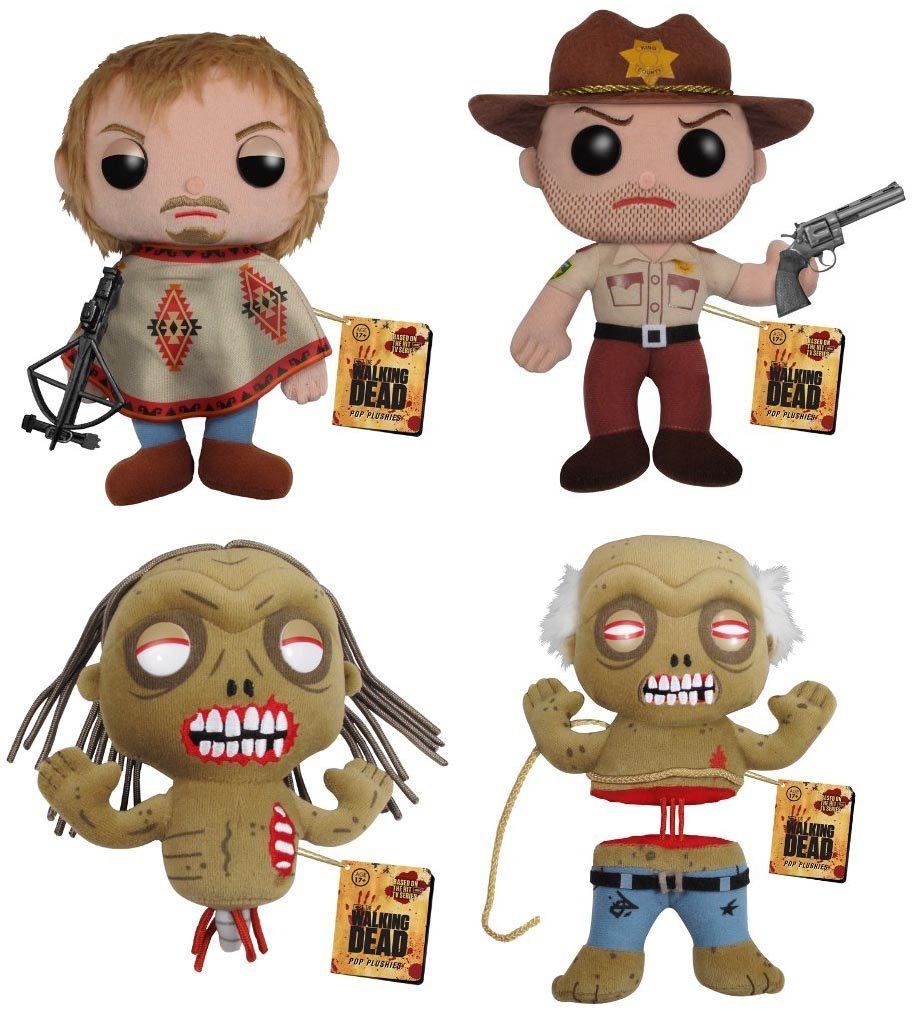 Funko Pop Plush Walking Dead Set of Four