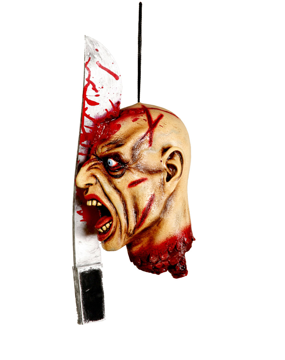 Hanging Head Split With Machete Prop