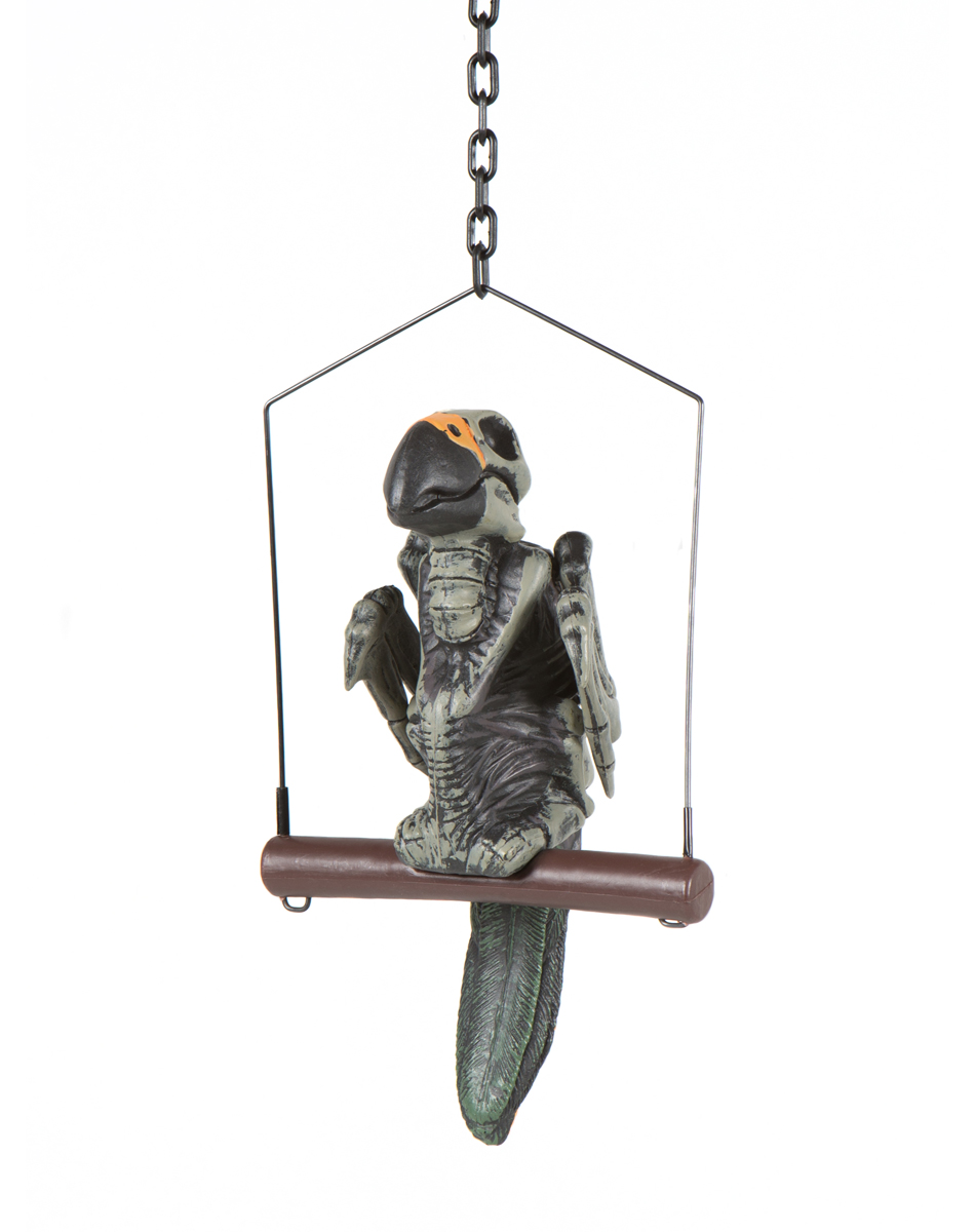 Hanging Zombie Parrot