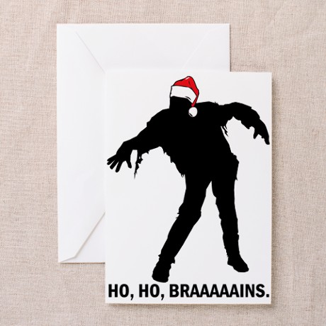 Ho, Ho, Braaains. Greeting Cards (Pk of 20)