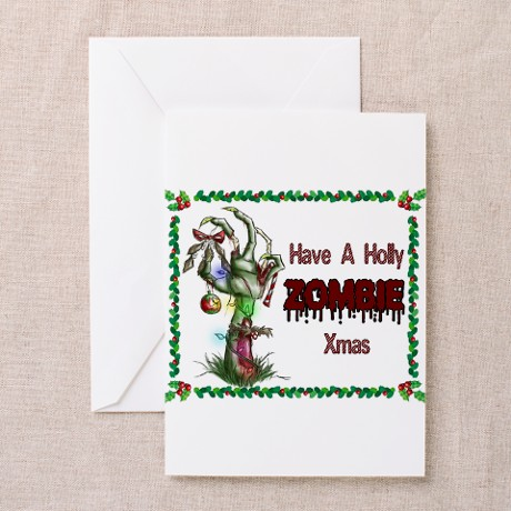 Holly Zombie X-mas Greeting Card