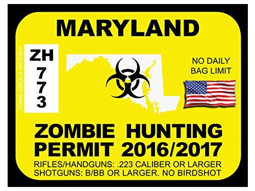 Maryland Zombie Hunting Permits
