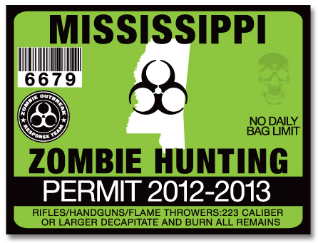 Mississippi Zombie Hunting Permits