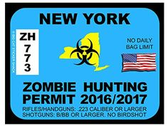 New York Zombie Hunting Permits
