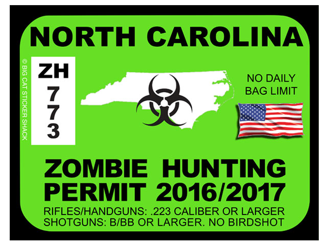 North Carolina Zombie Hunting Permits