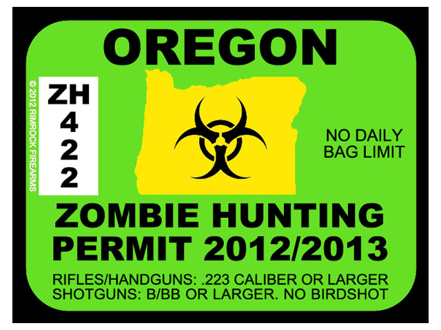 Oregon Zombie Hunting Permits