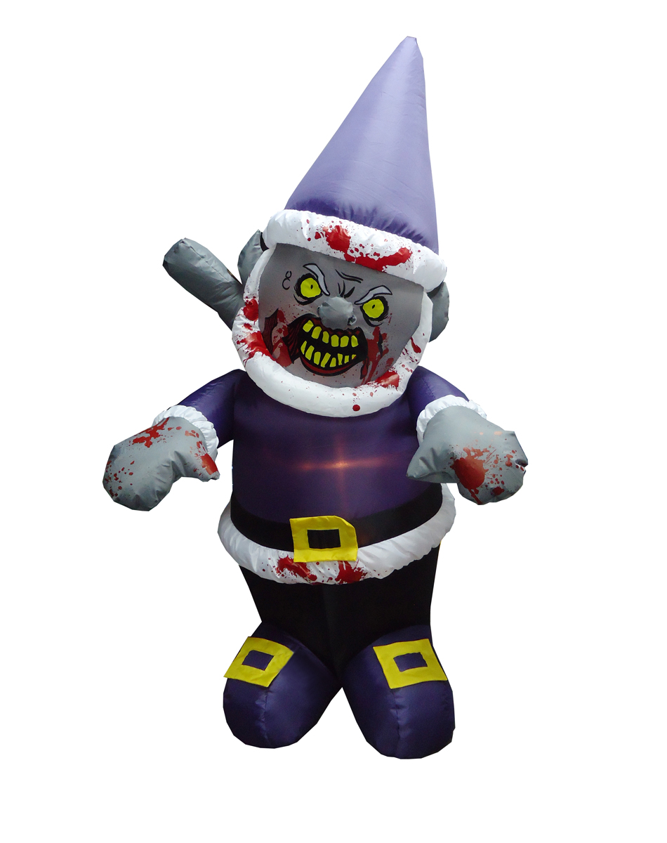 Purple Zombie Gnome Inflatable