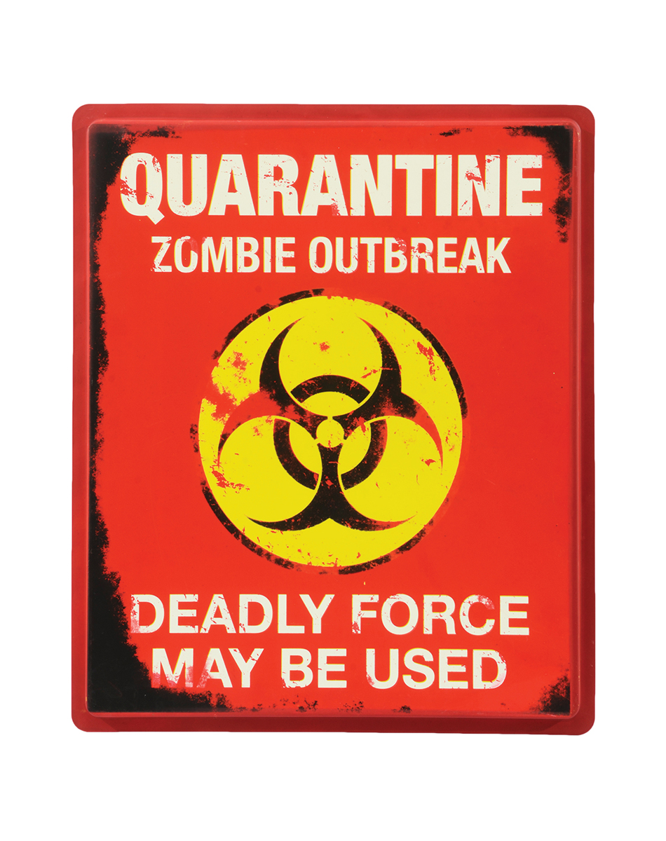 photo about Quarantine Sign Printable named Most straightforward Zombie Presents » Quarantine Indicator