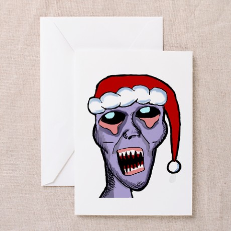 Santa Zombie Greeting Cards (Pk of 10)