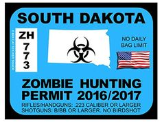 South Dakota Zombie Hunting Permits