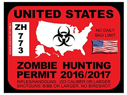 United States Zombie Hunting Permits