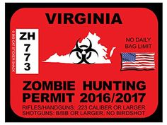 Virginia Zombie Hunting Permits