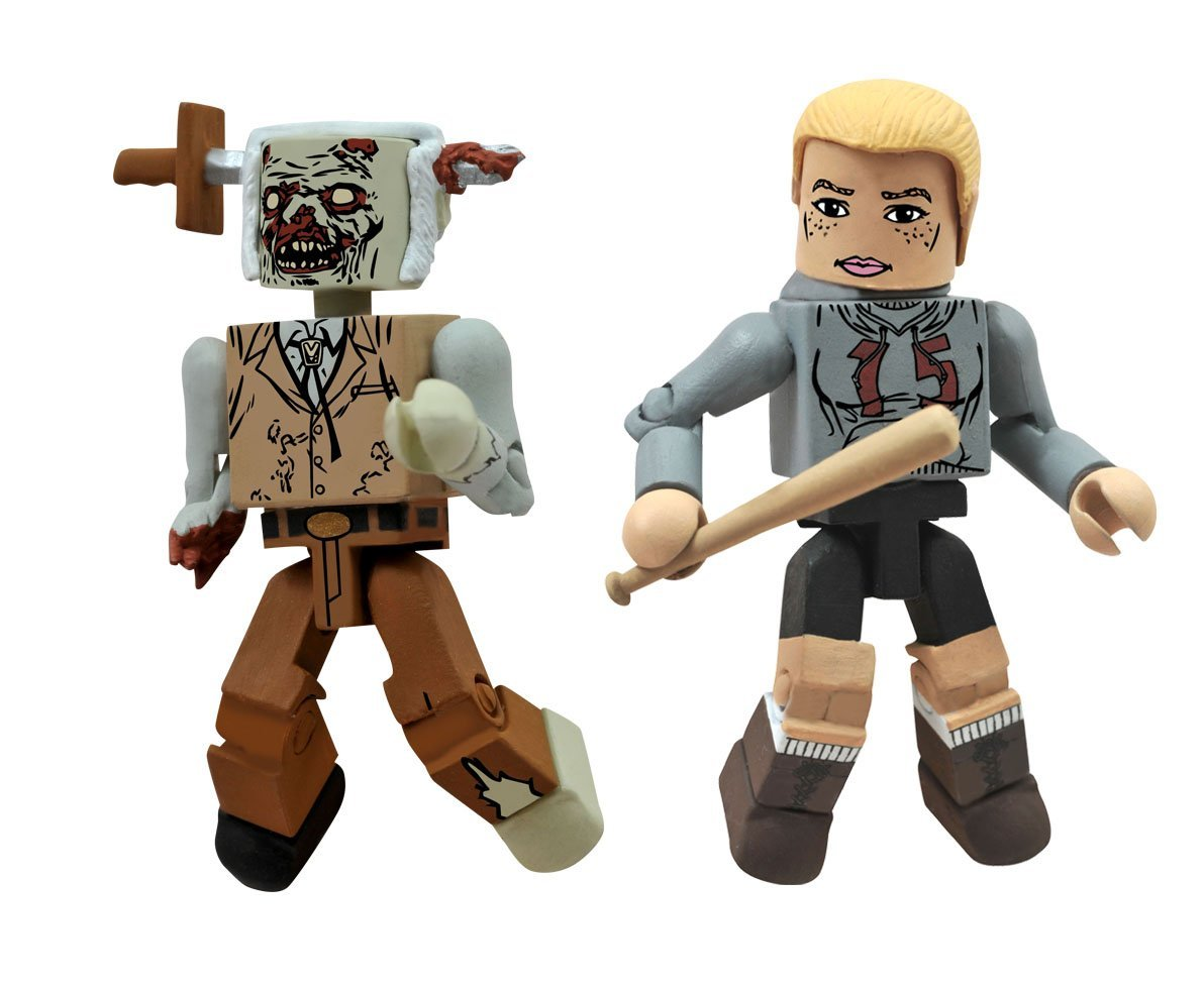 Walking Dead Minimates Amy and Stabbed Zombie