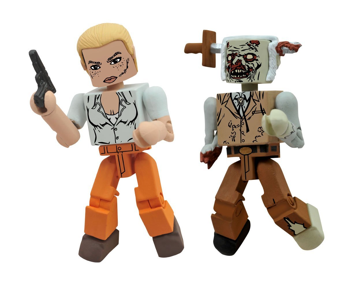 Walking Dead Minimates Andrea and Stabbed Zombie
