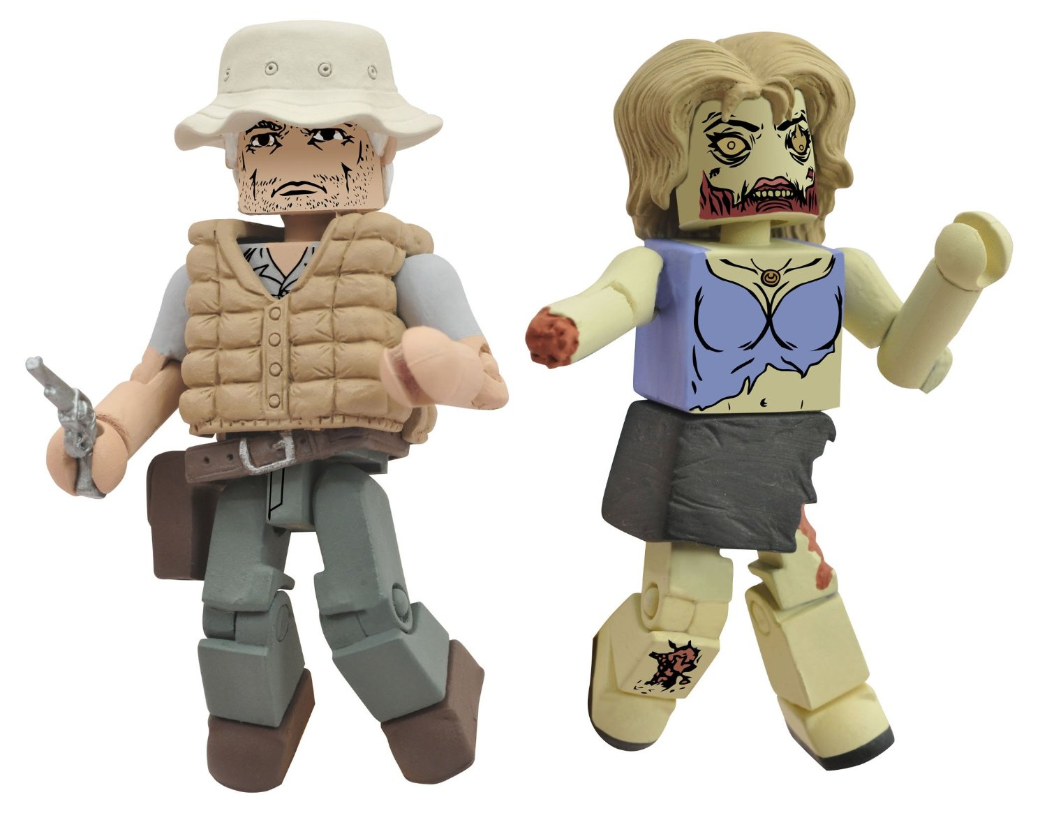 Walking Dead Minimates Dale and Female Zombie