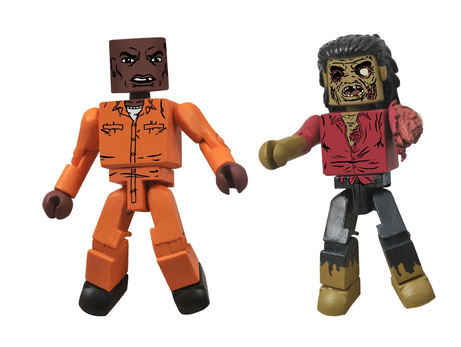 Walking Dead Minimates Dexter and Dreadlock Zombie
