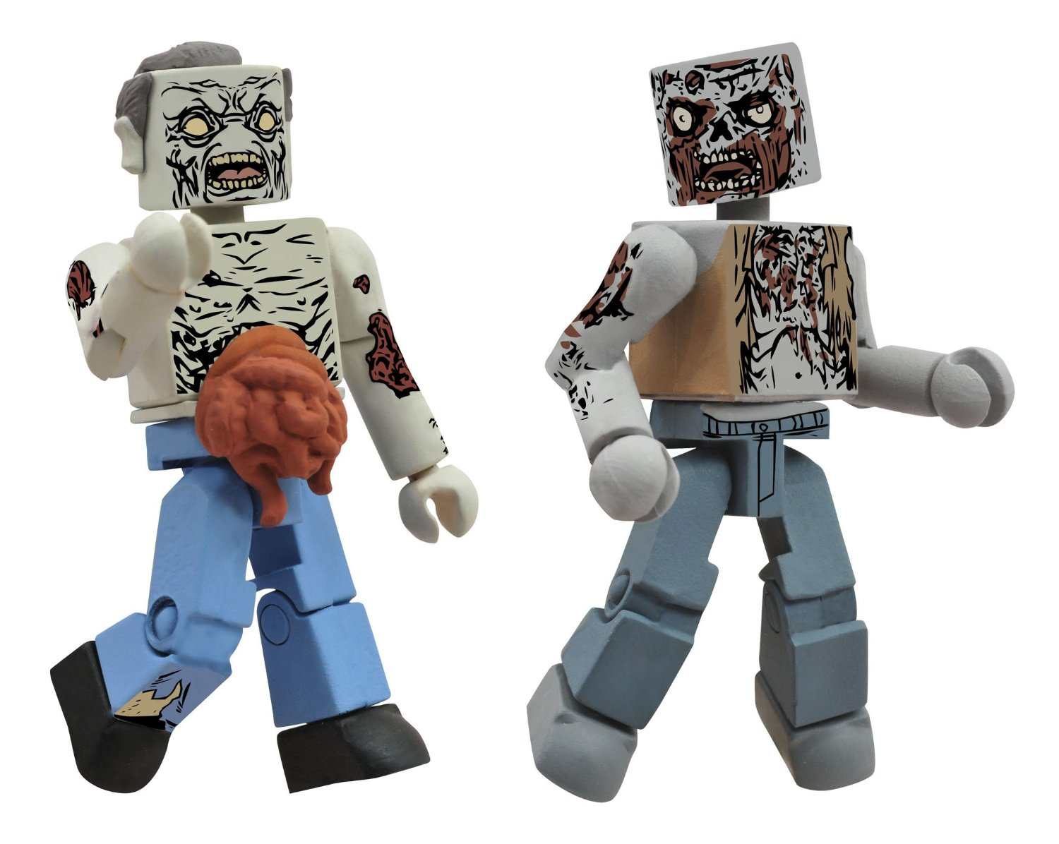 Walking Dead Minimates Herd Zombies