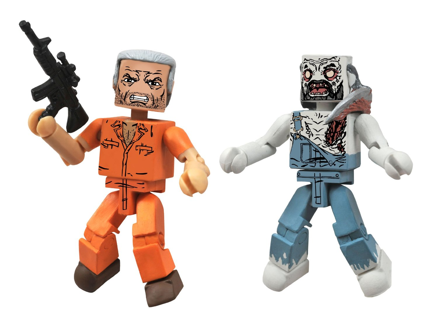 Walking Dead Minimates Hershel and Farmer Zombie