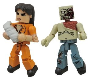 Walking Dead Minimates Lori and Shoulder Zombie Action