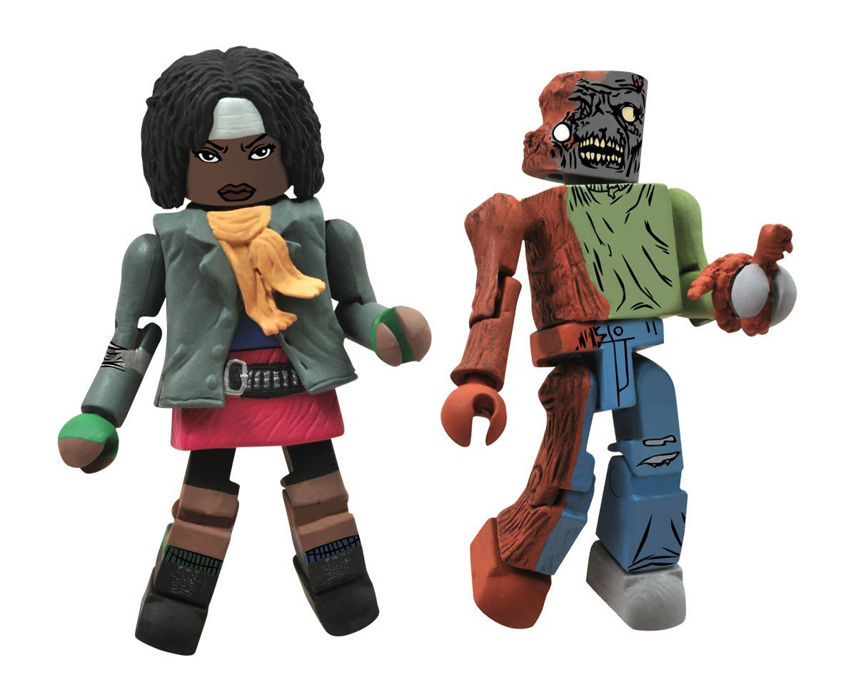 Walking Dead Minimates Michonne and One-Eye Zombie