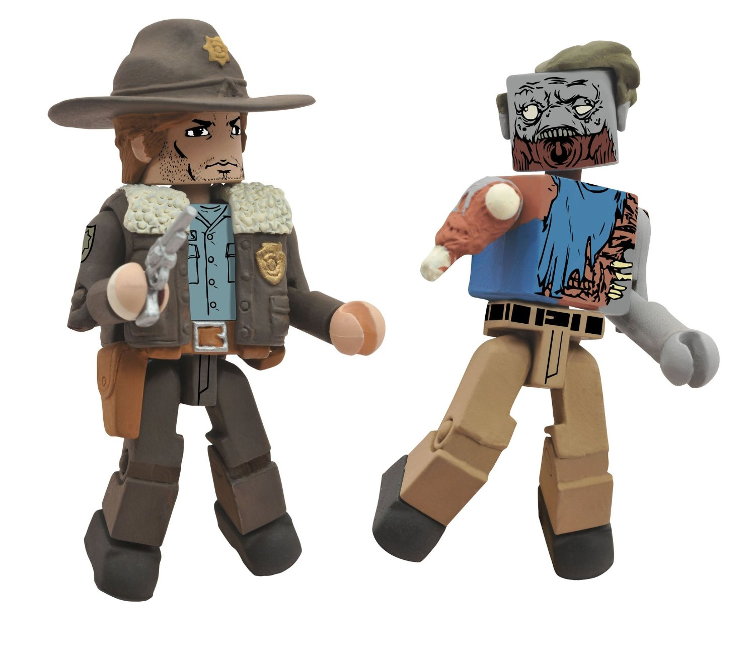 Walking Dead Minimates Rick and Roamer Zombie