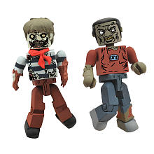 Walking Dead Minimates Sailor Zombie and Leg-Bite Zombie
