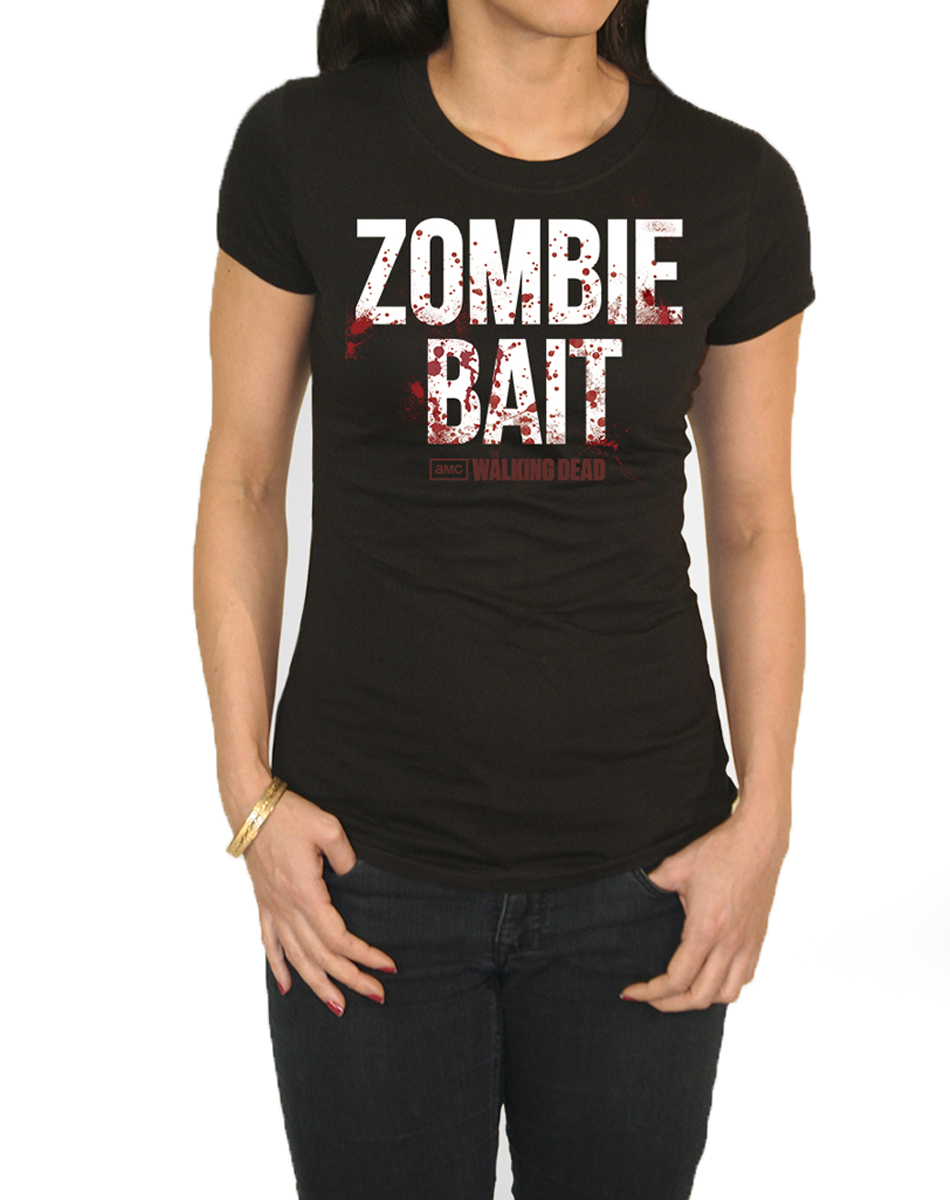 Walking Dead Zombie Bait Adult Womens T-Shirt