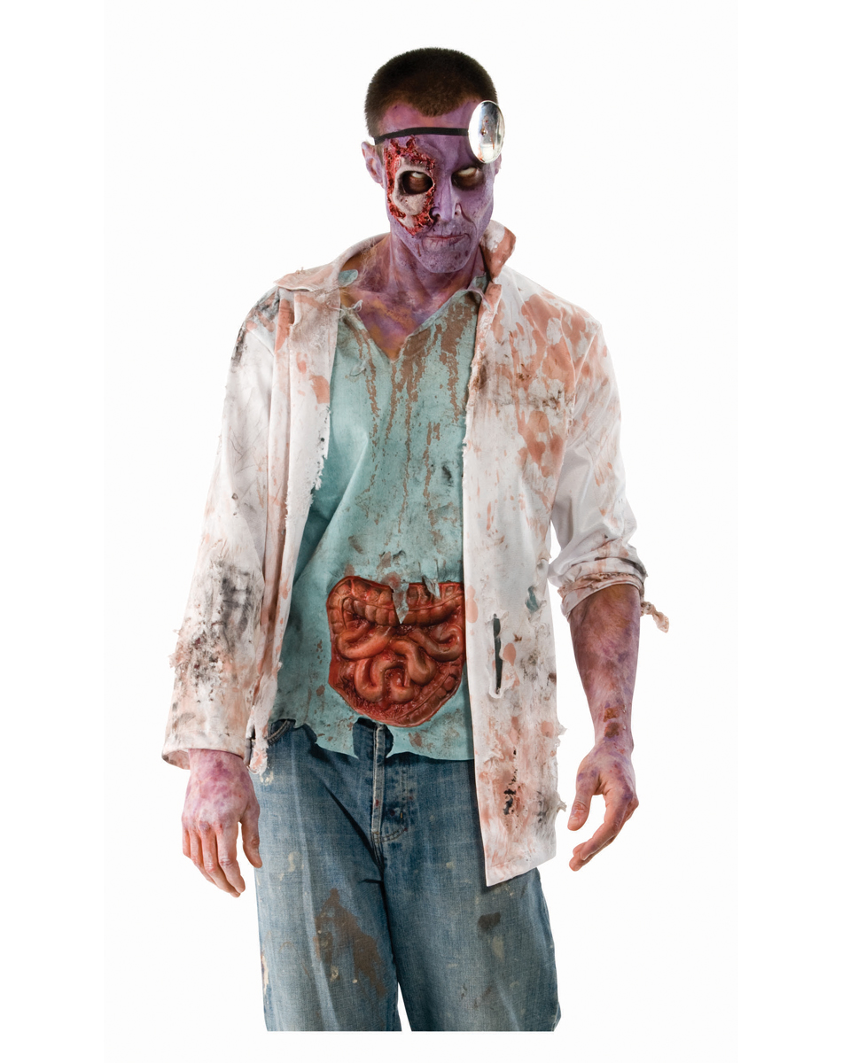 Walking Dead Zombie Doctor Adult Men's Costume
