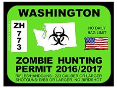 Washington Zombie Hunting Permits