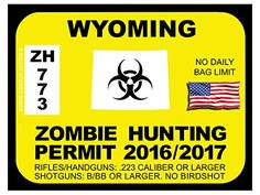Wyoming Zombie Hunting Permits