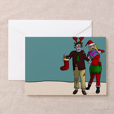 Xmas Zombies Greeting Cards (Pk of 10)