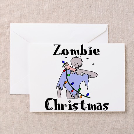 Zombie Christmas Greeting Cards (Pk of 10)