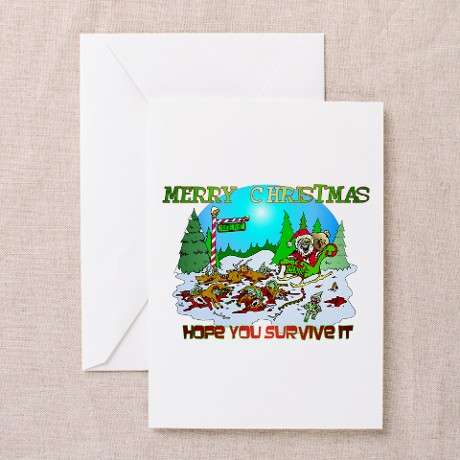 Zombie Christmas Killings Greeting Cards (Pk of 20