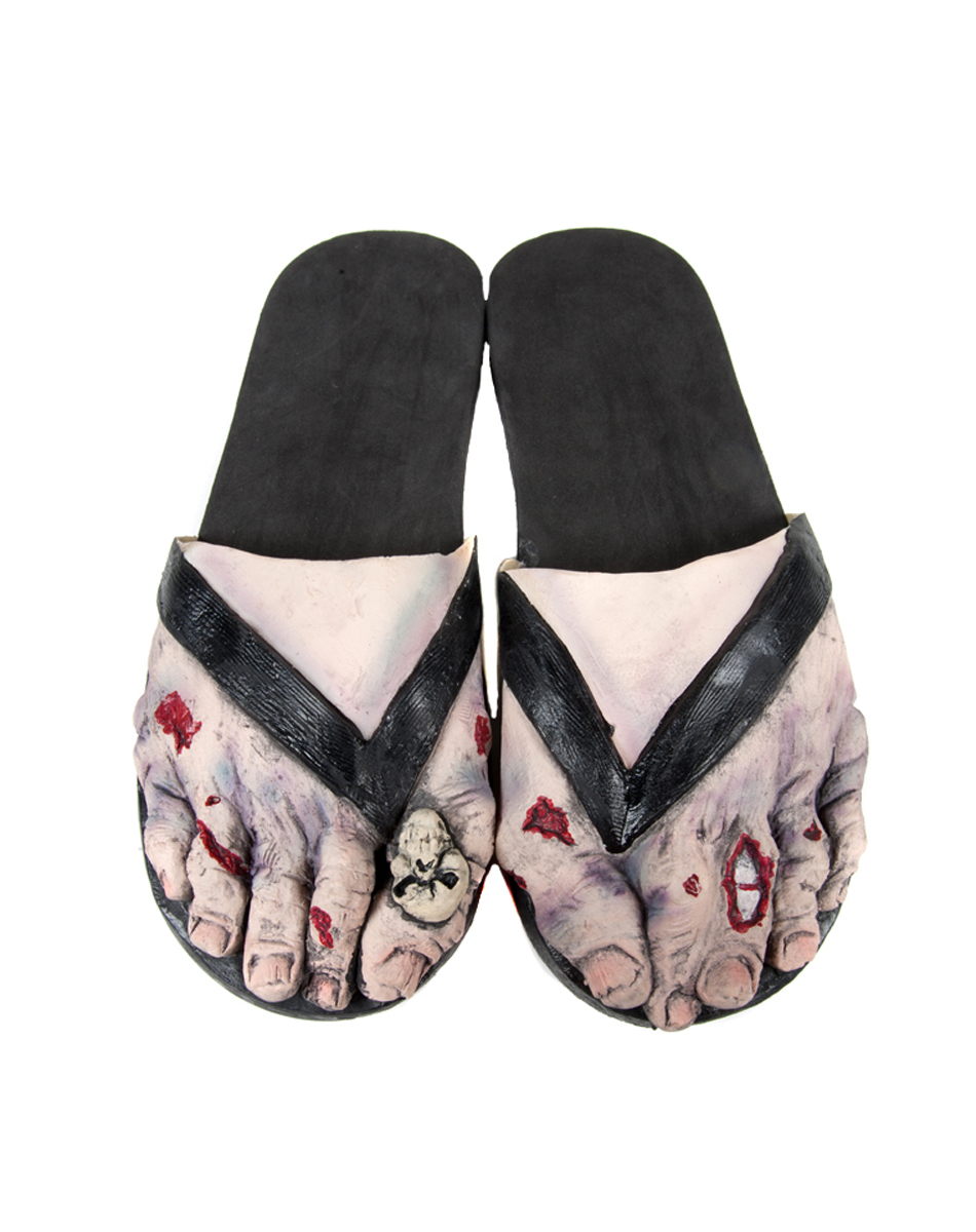 Zombie Feet with Skull Adult Sandals