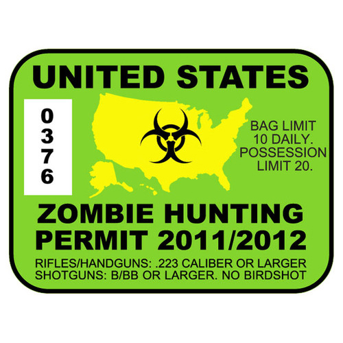 Zombie Hunting Permits Product Review