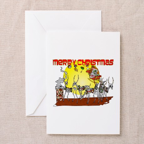 Zombie Santa Delivery Greeting Card