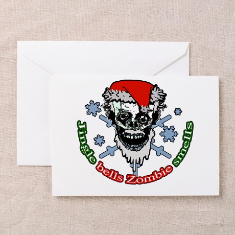 Zombie Xmas Greeting Cards (Pk of 10)