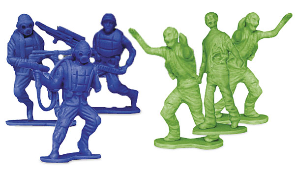 Zombie 'Army Men' Plastic Action Figures