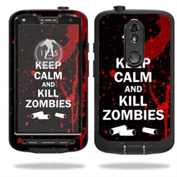 MightySkins Protective Vinyl Skin Decal for LifeProof Motorola Droid Turbo 2 fre case wrap cover sticker skins Kill Zombies