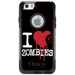 CUSTOM OtterBox Commuter Series Case (77-50317) for Apple iPhone 6 Plus / 6S Plus - 5.5 Screen - I Heart Zombies