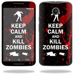 MightySkins Protective Vinyl Skin Decal for Motorola Google Nexus 6 wrap cover sticker skins Kill Zombies