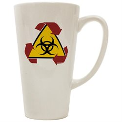 TooLoud Recycle Biohazard Sign 16 Ounce Conical Latte Coffee Mug